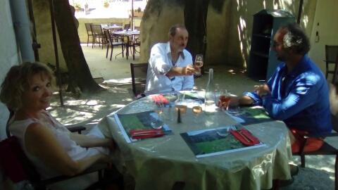 Petit repas à la Chartreuse lors de cette journée de relâche imprévue