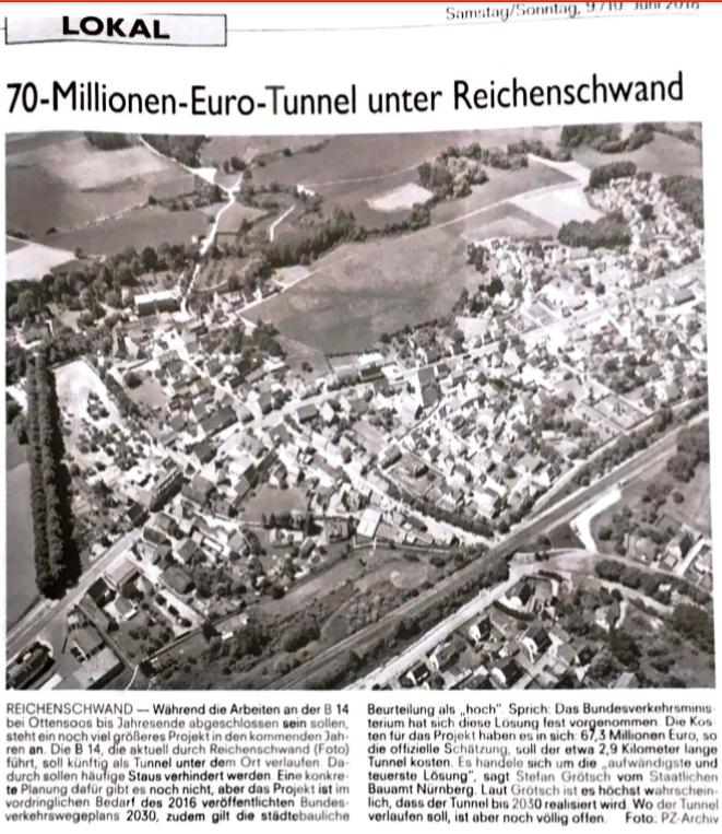 Aus dem Boten vom 09./10.06.2018 - 70-Millionen-Euro-Tunnel unter Reichenschwand