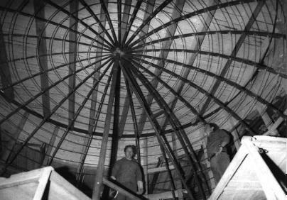 Rohbau der Kuppel des Planetariums