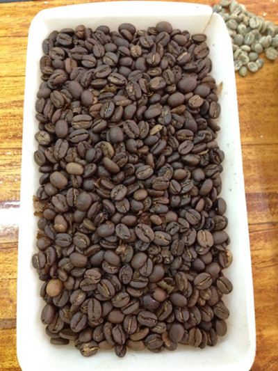 Frisch gerösteter Kaffee aus unserer eigenen Produktion.