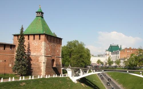 Die Kremlmauer von außen.