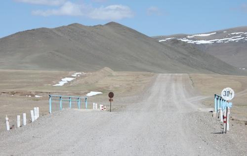 Unsere letzte Brücke in der Mongolei.