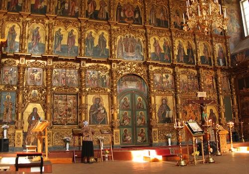 Erlöser-Verklärungskathedrale im Kreml mit tollen Fresken und Ikonenwand