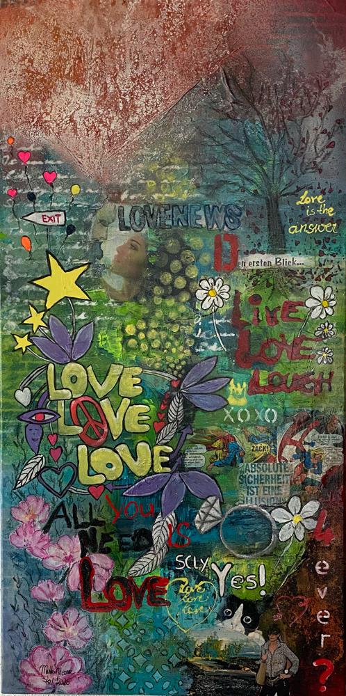 Love News 50 x 120 x 4,5 unverkäuflich