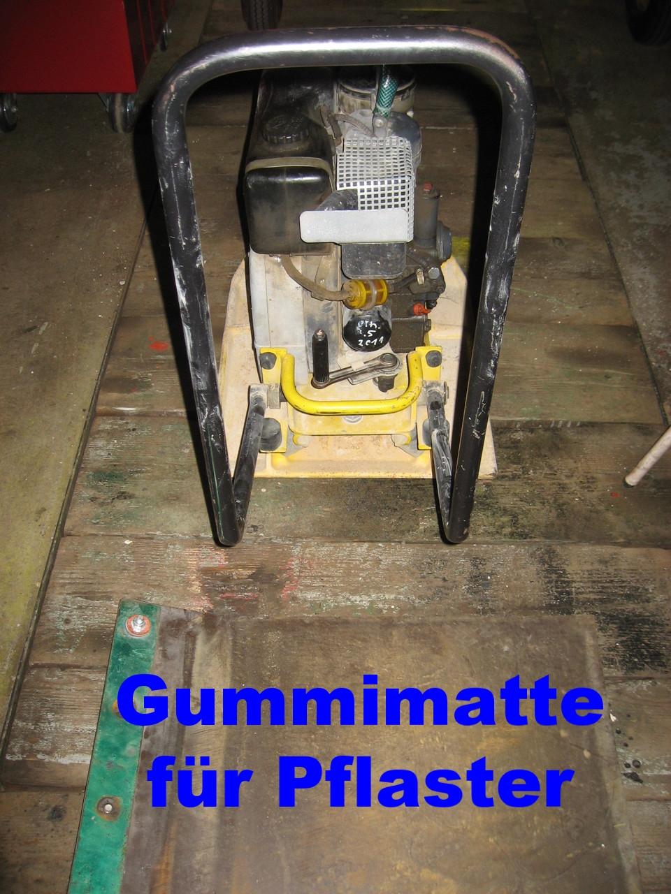 Rüttelplatte mit Gummimatte 110Kg