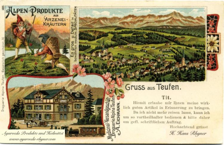 Historische Karte der alten Apotheke in Teufen - Foto gefunden in der Teufner Poscht