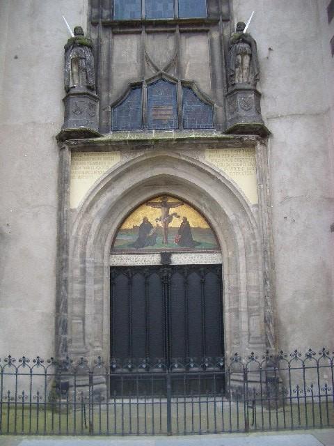 Das Portal der Schlosskirche