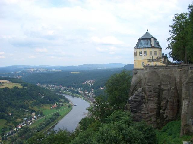 Blick auf die Stadt Königstein