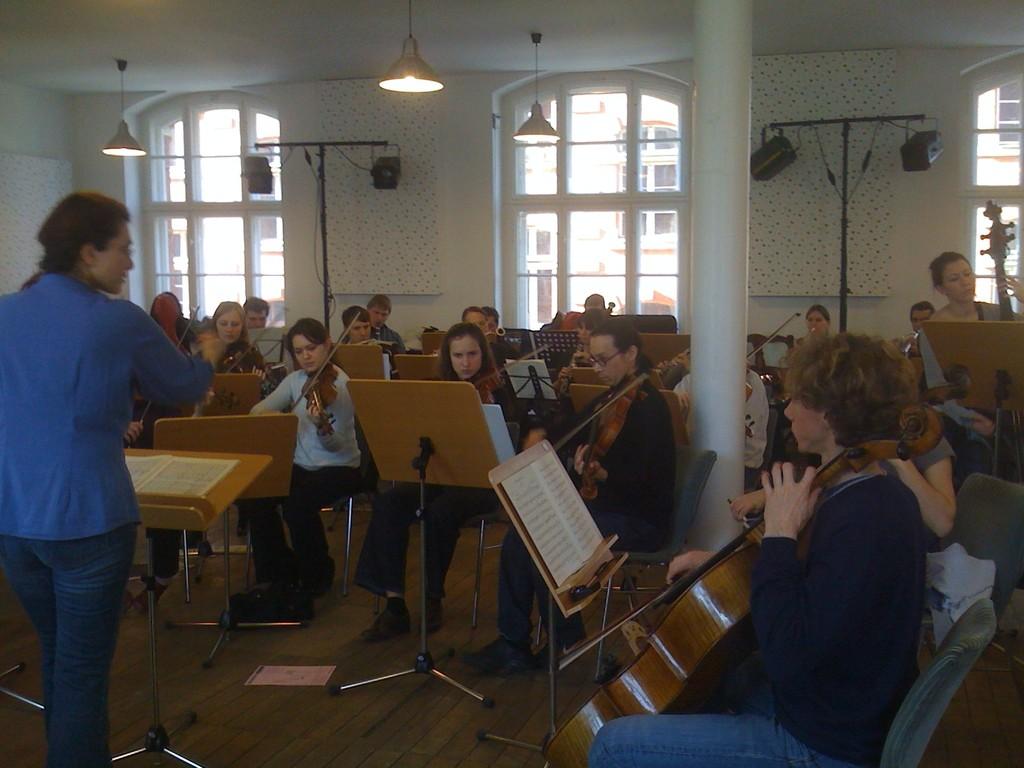Proben im Vivaldi-Saal