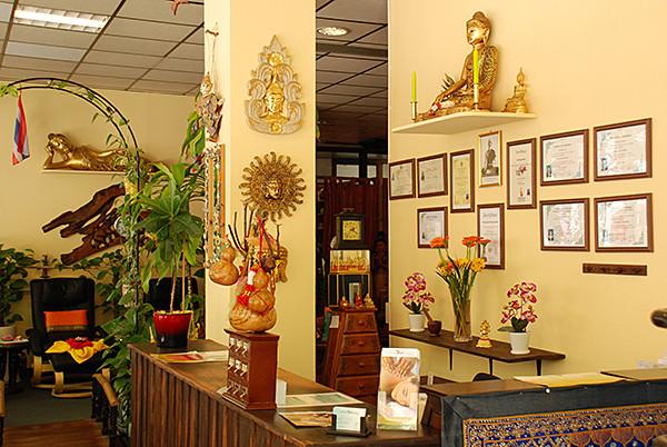 Empfangsbereich bei Tabandu Thai Massage in Mainz