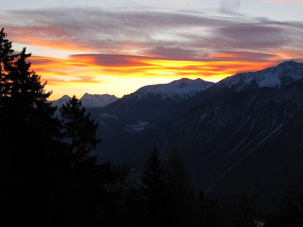 Sonnenaufgang in Crans-Montana!