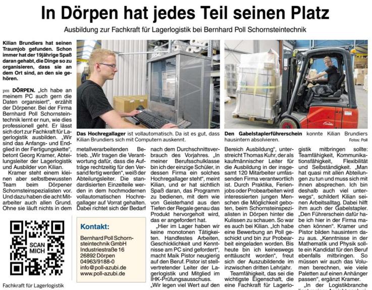Ausbildungssonderbeilage des Metall- und Maschinebaunetzwerkes der Ems-Achse, August 2017, Seite 22