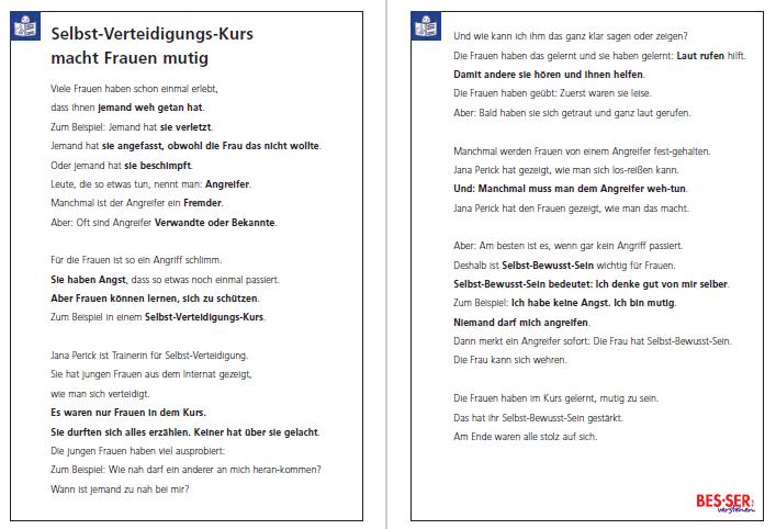"""Text in Leichter Sprache aus dem """"Blitzlicht"""", Ausgabe II 2017"""