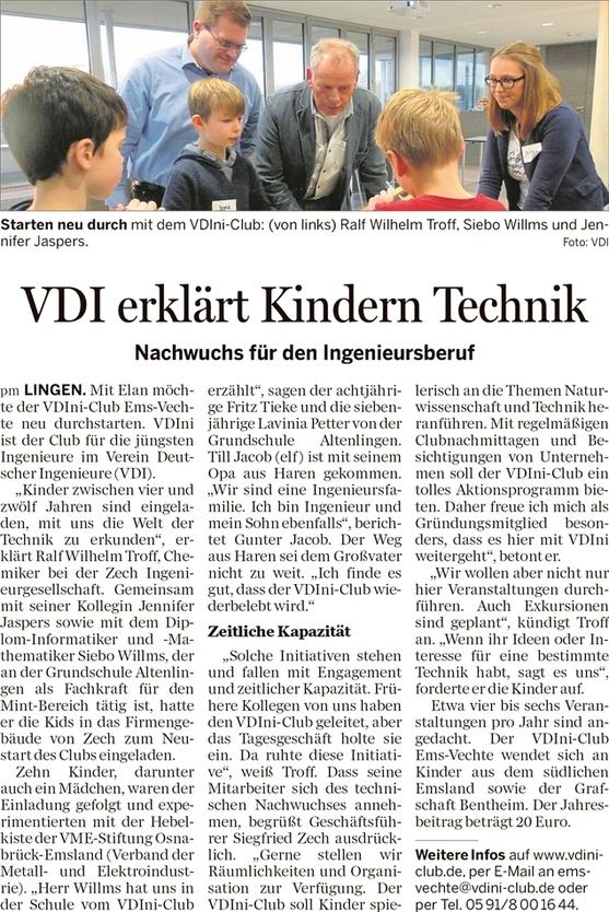 Lingener Tagespost vom 10. Dezember 2017
