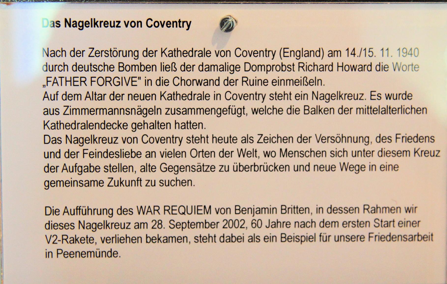 Erklärung zum Nagelkreuz von Coventry...