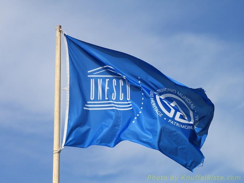 Die Flagge der Unesco...