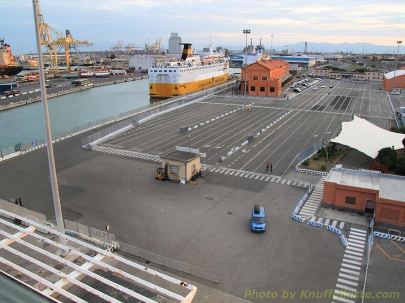 Parkplatz ist bereits leer