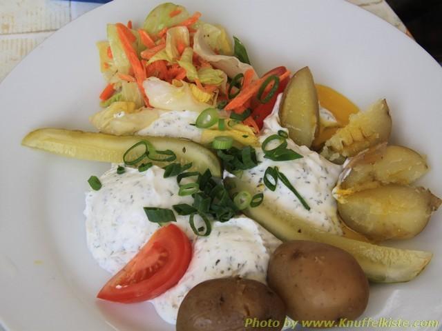 Gabis Essen:Pellkartoffeln mit Quark und Leinöl,Spezialität des Spreewald´s