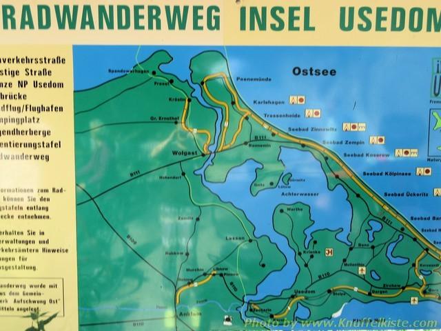 Karte im Wald beim Stellplatz