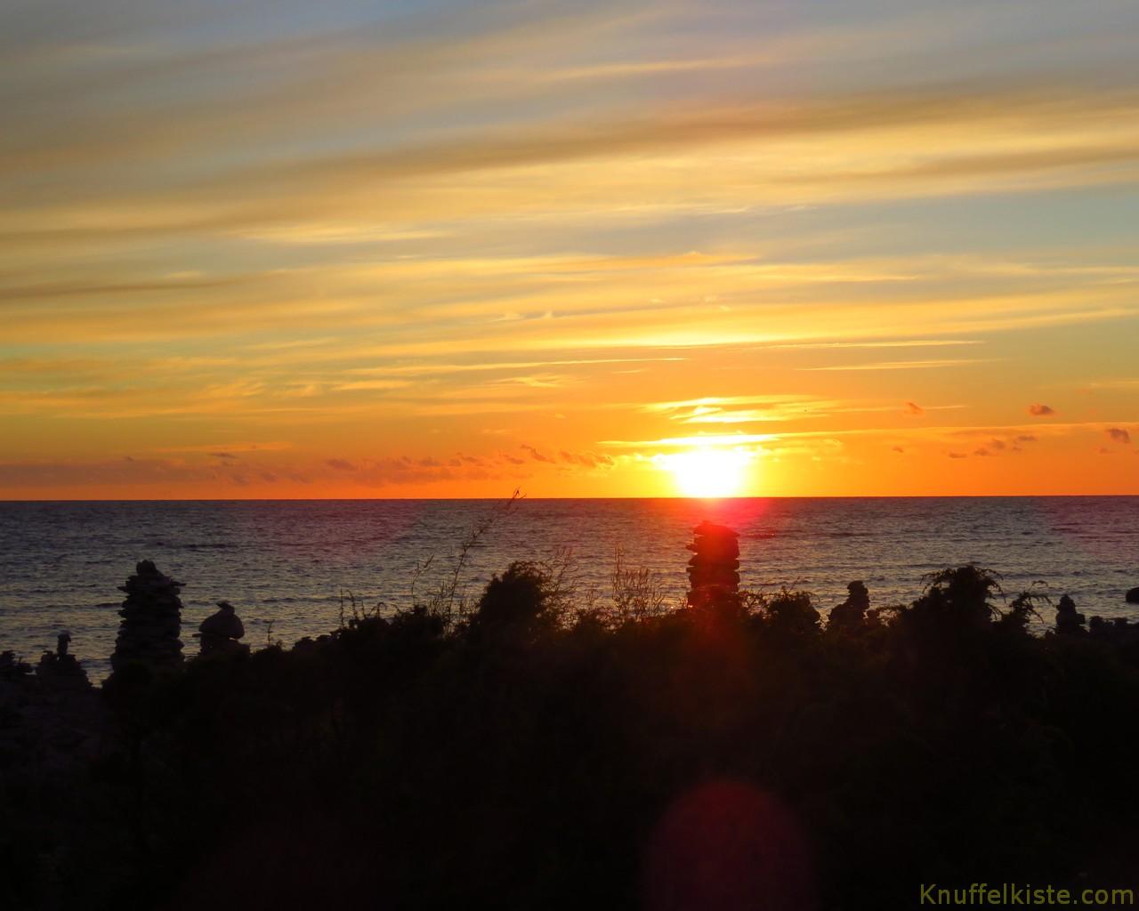 Sonnenuntergang...