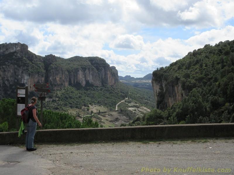 Ausblick vom Parkplatz der Höhle