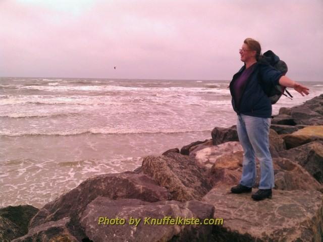Am Meer und volle Pulle Wind !!