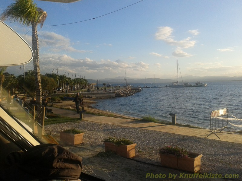 am Abend im Hafen von Golfo Aranci.