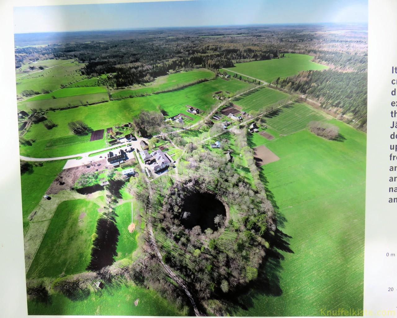 Luftaufnahme der Krateranlage!