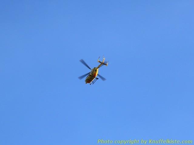 ADAC Hubschrauber kam auch vorbei geflogen am Abend.