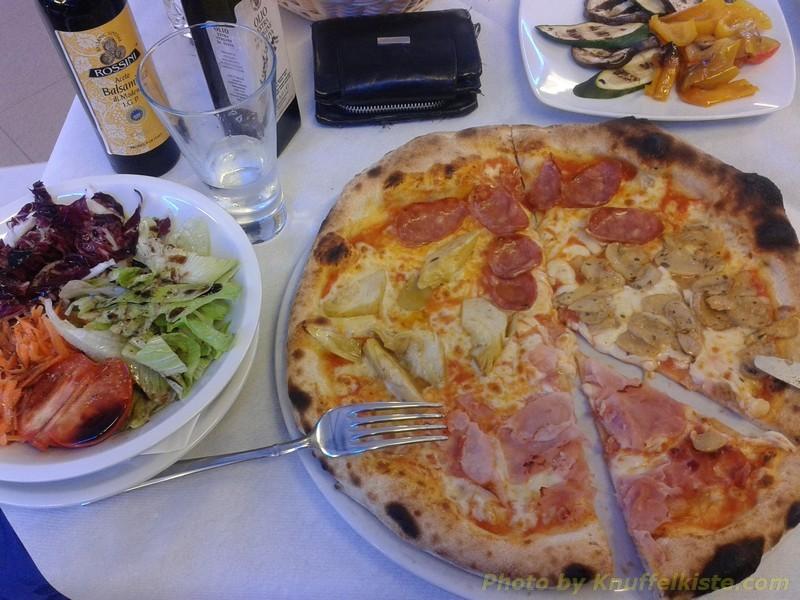 meine hausgemachte Pizza Quadro Staggione!