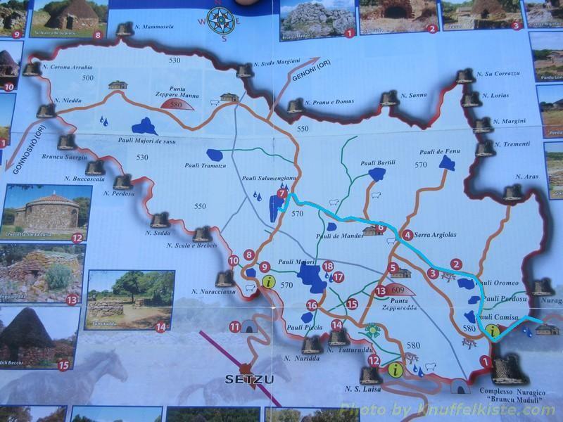 Foto der Übersichtkarte vom Ranger