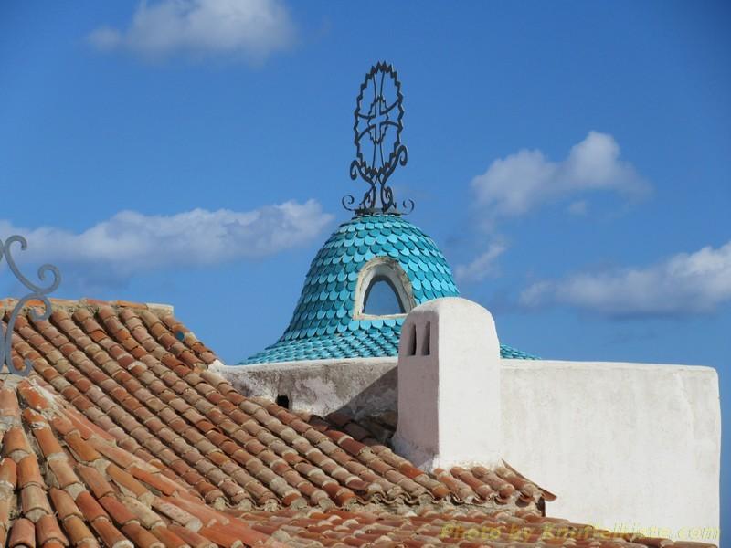 das Dach der Kapelle