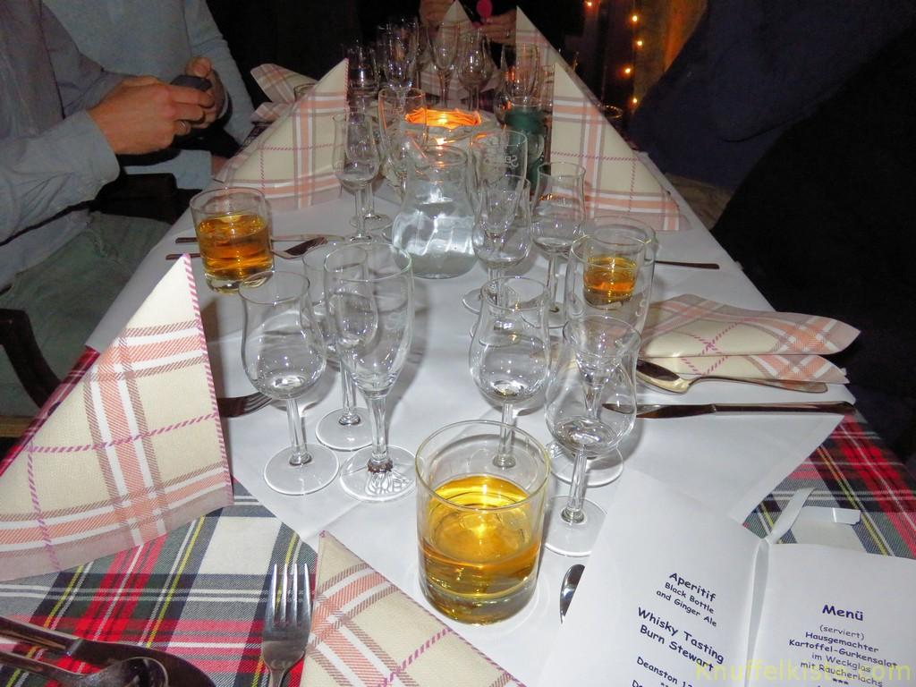unser Tisch beim Tasting-Dinner!