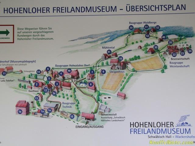 Übersichtsplan des Freilandmuseums