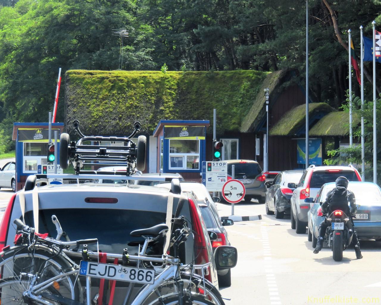Zahlstation -Eingang Nationalpark Kurische Nehrung!