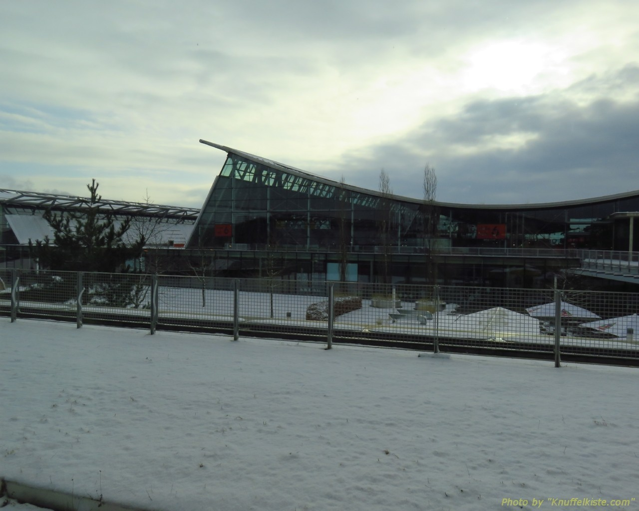 Es liegt noch ein wenig Schnee in Stuttgart