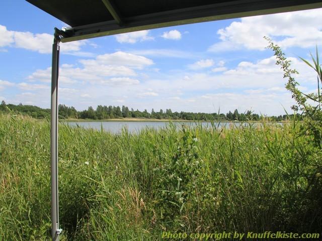 """Blick vom Campingstuhl aus auf den """"Hindenbergersee"""""""