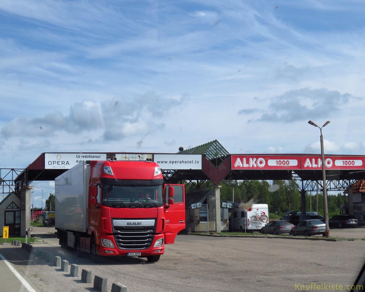 Grenzübergang nach Estland