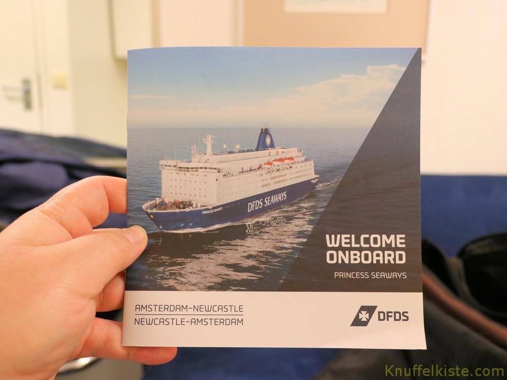 an Bord unserer DFDS-Fähre!