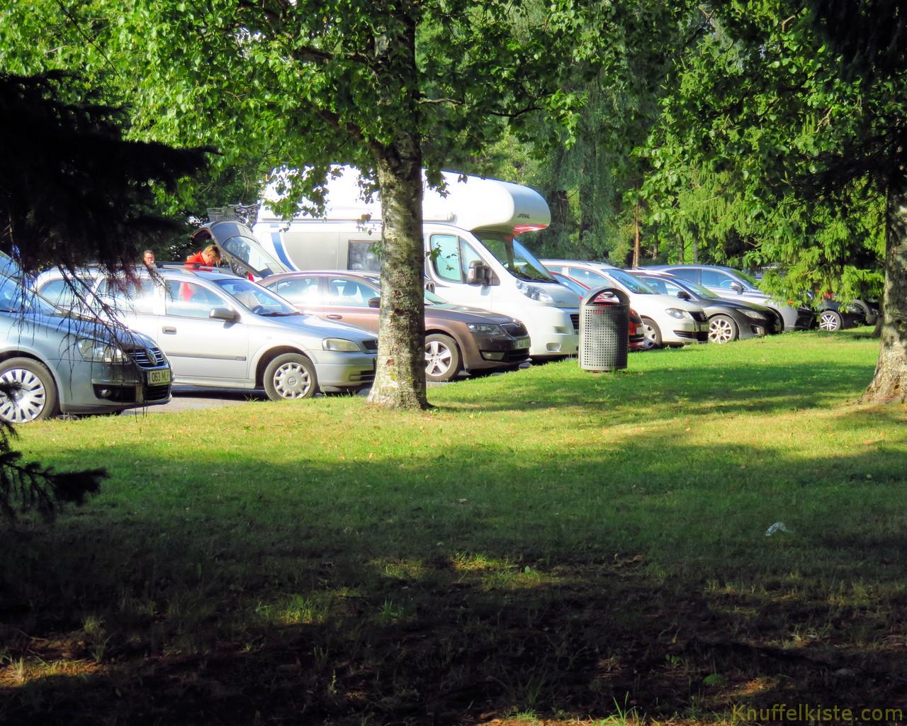 unser Parkplatz in Pärnu