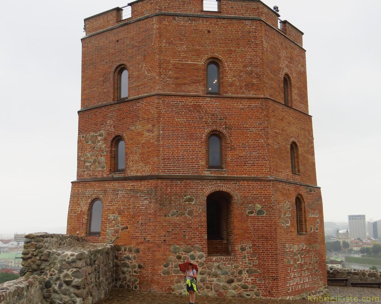 der Turm oben auf dem Burgberg