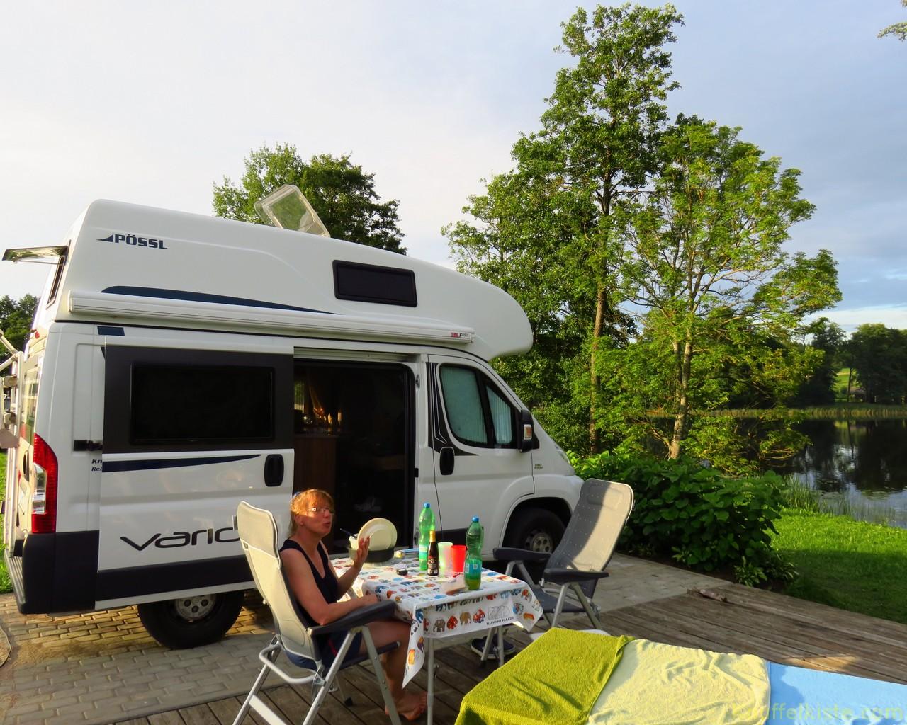 wieder zurück am Campingplatz