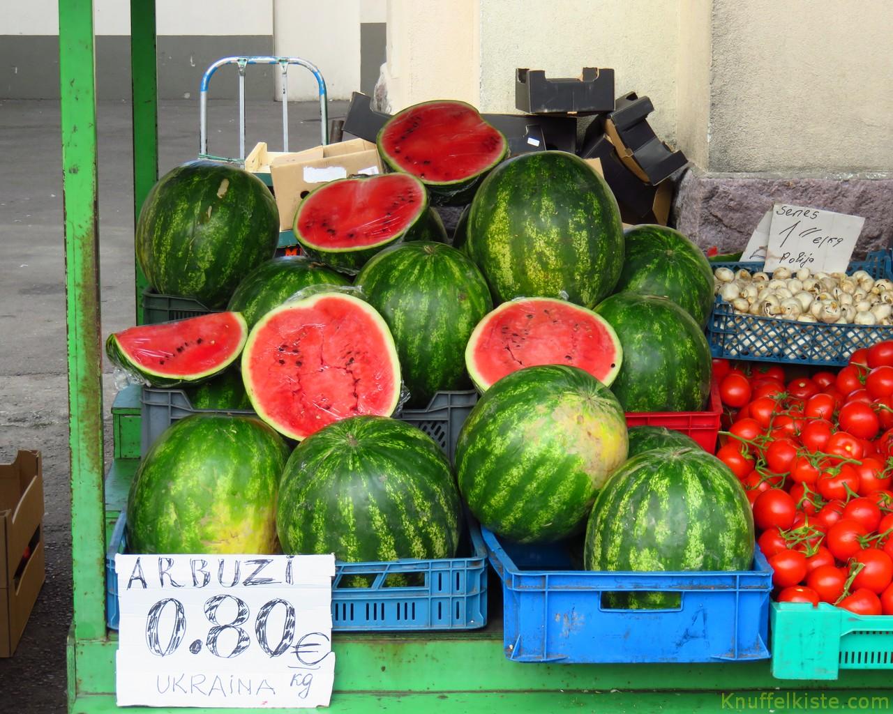 frische Wassermelonen aus der Ukraine