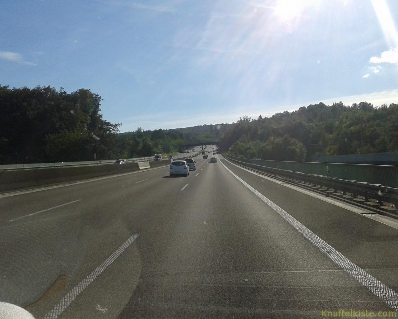 auf der deutschen Autobahn gen Süden!