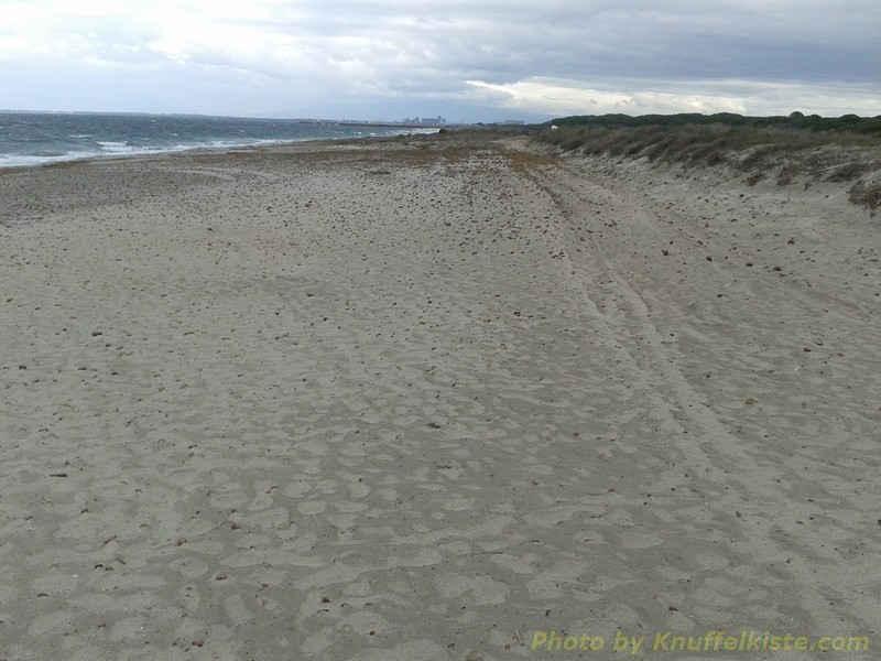 am Strand- starker Wind