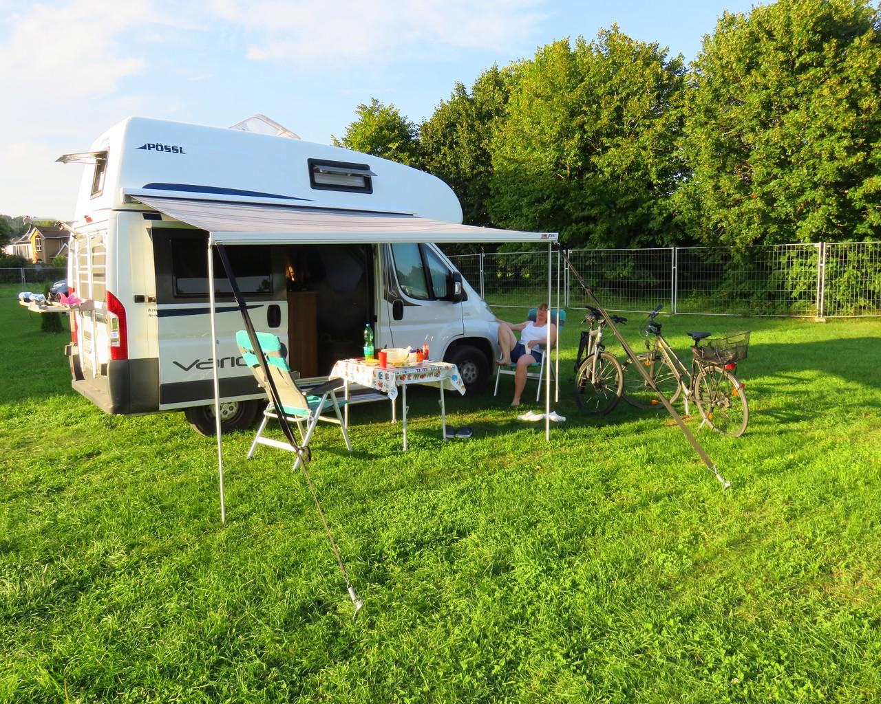 Camping in Vilnius am Nachmittag