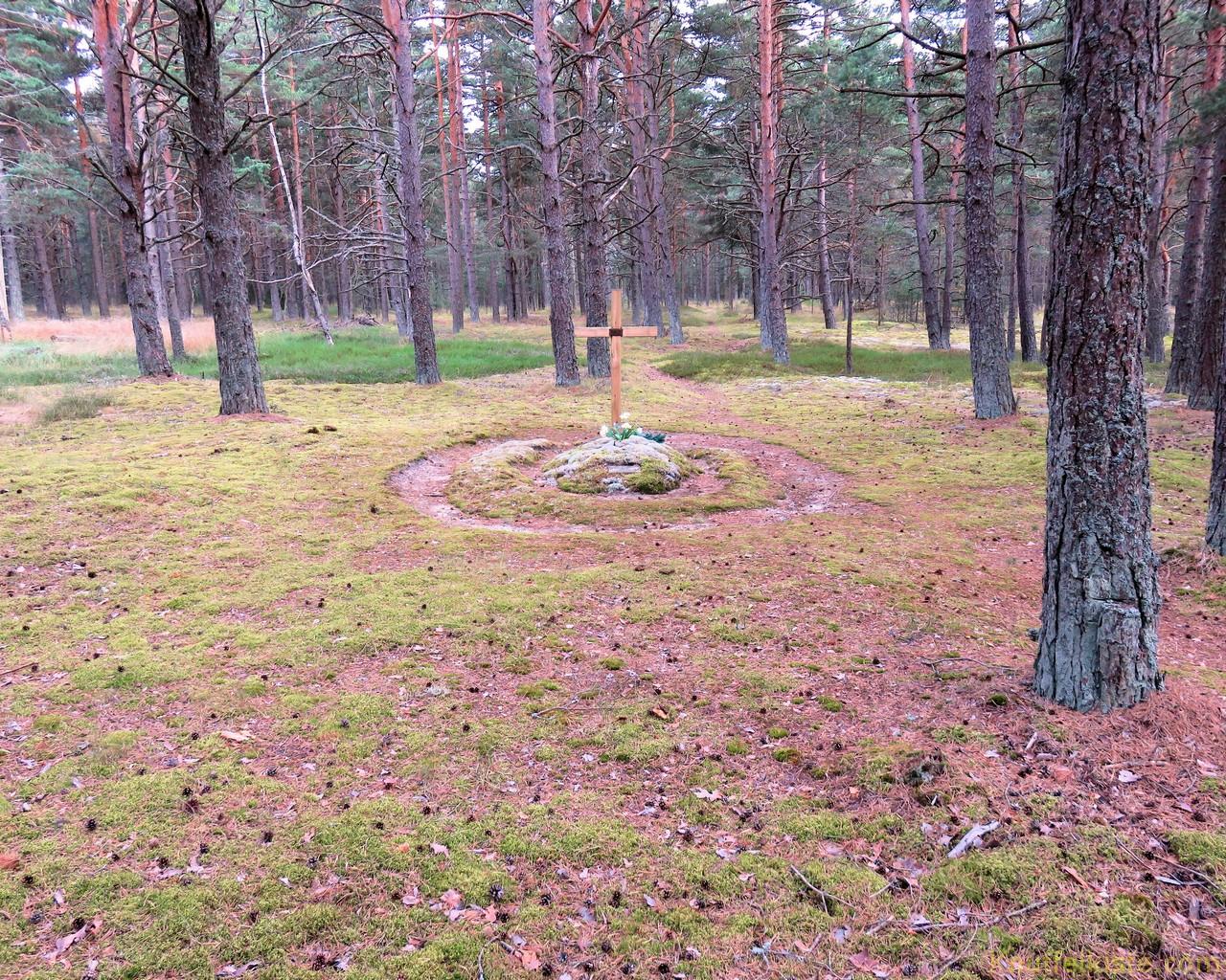 zum Grab im Wald!