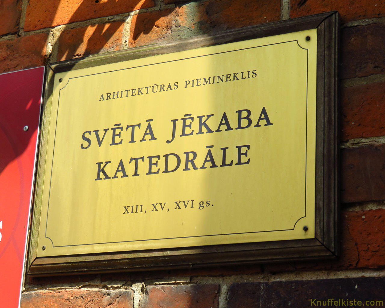 Schild Kathedrale