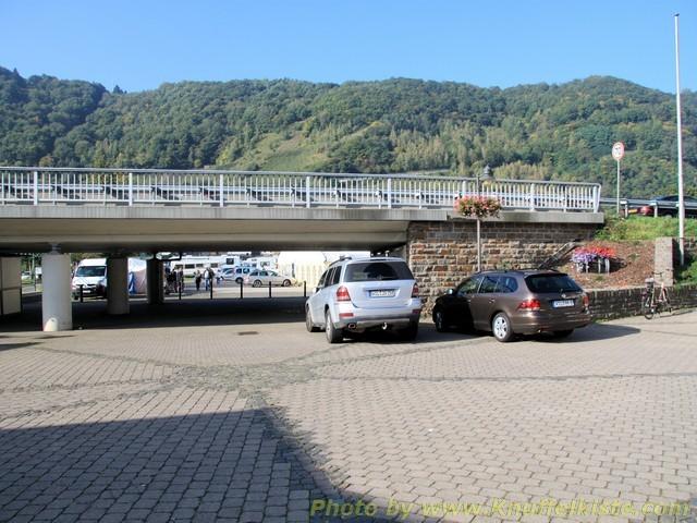 Unterführung ,die den Stellplatz mit Enkirch verbindet