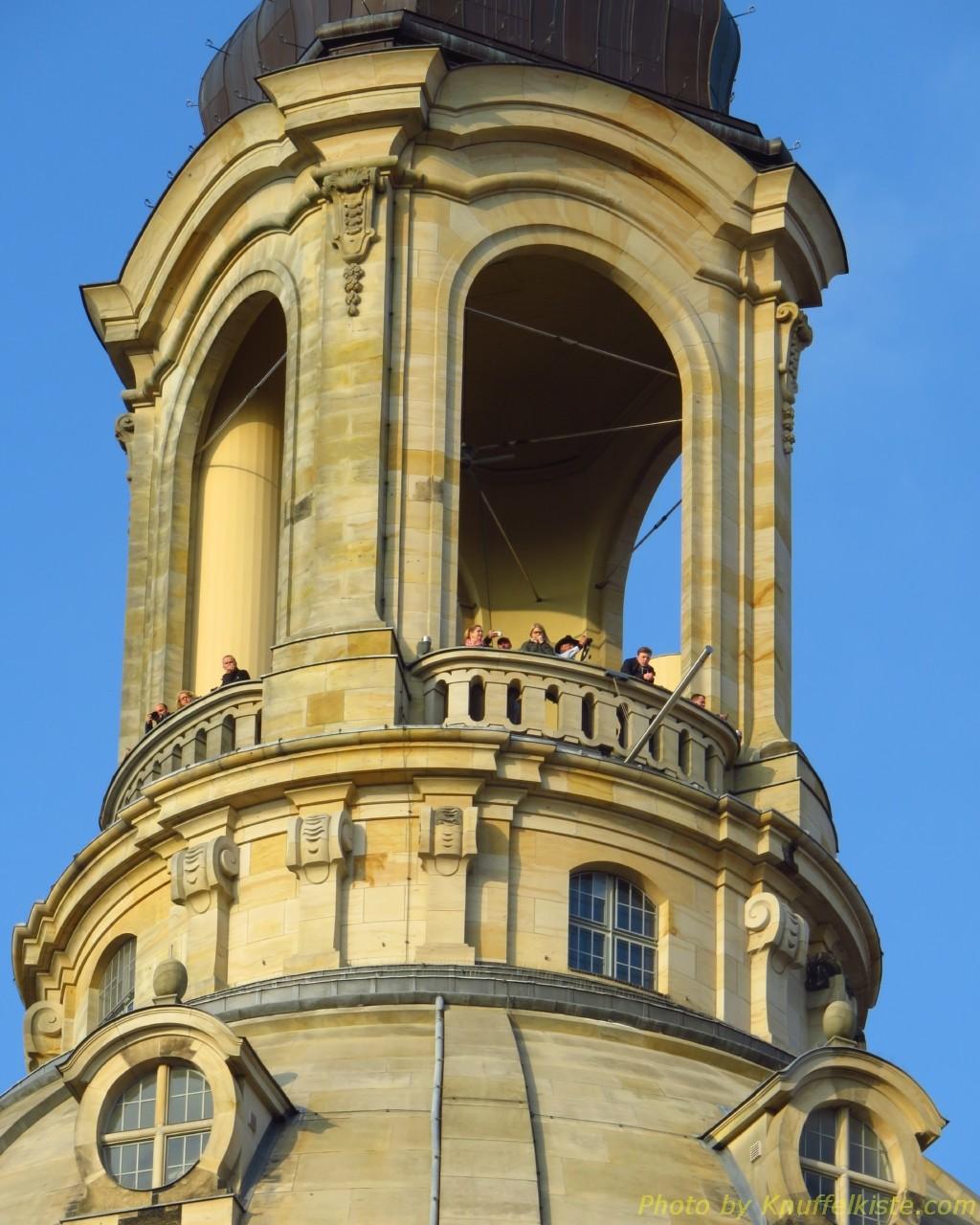 Turm der Frauenkirche in der Abendsonne